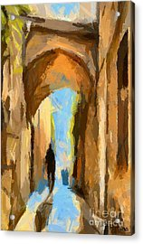 Just Me And My Shadow Acrylic Print by Dragica  Micki Fortuna