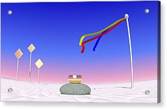 Acrylic Print featuring the digital art Just Me And The Wind by Andreas Thust