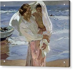 Just Out Of The Sea Acrylic Print by Joaquin Sorolla y Bastida