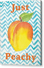 Just Peachy Painting Acrylic Print by Christy Beckwith
