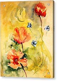 Just Play Acrylic Print by Mary Spyridon Thompson
