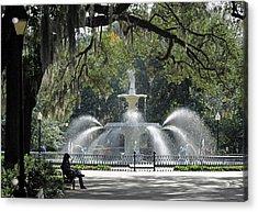 Just Relaxing In Savannah Acrylic Print
