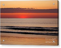 Just Showing Up Along Hampton Beach Acrylic Print by Eunice Miller