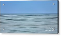 Just Sky Just Water - A Tranquil Moments Landscape Acrylic Print by Dan Carmichael
