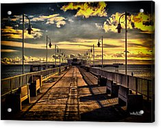 Just The Pier In Long Beach Acrylic Print