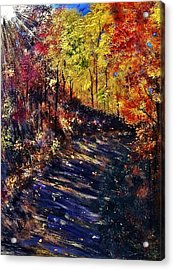Acrylic Print featuring the painting Just The Sound Of The Forest... by Cristina Mihailescu