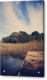 Just To Make This Dock My Home Acrylic Print by Laurie Search