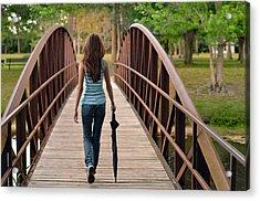 Just Walk Away Renee Acrylic Print by Laura Fasulo