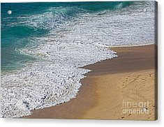 Just Waves And Sand By Kaye Menner Acrylic Print