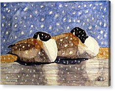Just We Two Acrylic Print by Angela Davies