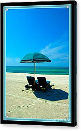 Just You And Me And The Beach Acrylic Print by Susanne Van Hulst