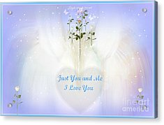Just You And Me I Love You Acrylic Print by Sherri's Of Palm Springs