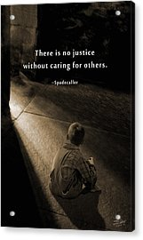 Justice For All Acrylic Print