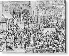 Justice Acrylic Print by Pieter the Elder Bruegel