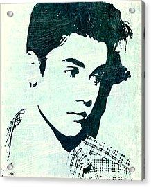 Justin Bieber In Blues Acrylic Print by ABA Studio Designs