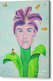 Justin Bieber Painting Acrylic Print