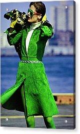 Justine Cushing Wearing Kay Unger Acrylic Print