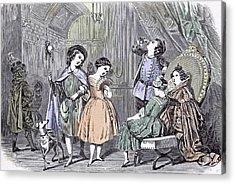 Juvenile Fancy Ball Paris Children 1847 Bals Costums Paris Acrylic Print by English School