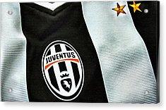 Juventus Poster Art Acrylic Print by Florian Rodarte