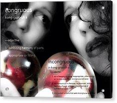 Juxtaposition Acrylic Print by Charlotte  DiSipio-Grillo