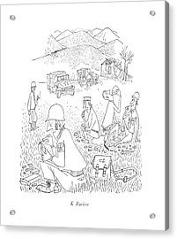 K Ration Acrylic Print by Saul Steinberg