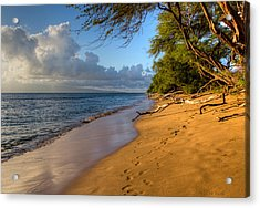 Kaanapali Beach Stroll Acrylic Print by Heidi Smith