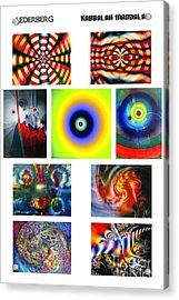 Kabbalah Mandala Poster Acrylic Print by Dov Lederberg