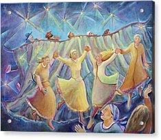 Kabbalat Shabbat 3 Acrylic Print by Chana Helen Rosenberg