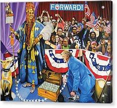 Kabiyesi Oba Obama Unquestionable King Obama Acrylic Print