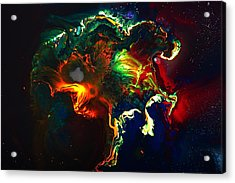 Kaboom - Bright Colorful Abstract Art By Kredart Acrylic Print