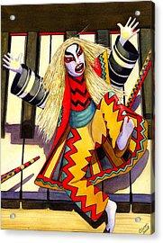 Kabuki Chopsticks 3 Acrylic Print by Catherine G McElroy