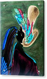 Acrylic Print featuring the painting Kabuki Theatre Gone Wild by Paula Ayers