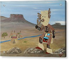 Kachina Owl Dancer Acrylic Print