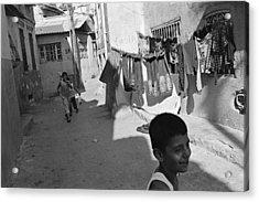 Kadifekale Neighborhood In Izmir In Turkey Acrylic Print by Ilker Goksen