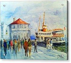 Kadikoy Ferry Arrives Acrylic Print