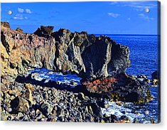 Acrylic Print featuring the photograph Kaena Point Rock Arch by Aloha Art
