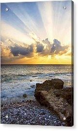 Kaena Point State Park Sunset 2 - Oahu Hawaii Acrylic Print