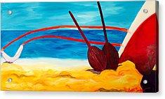 Kaeti's Canoe Acrylic Print by Beth Cooper
