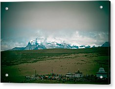 Kailas Mountain Home Of The Lord Shiva View From Manasarovar Acrylic Print by Raimond Klavins
