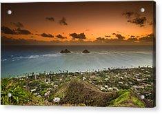 Kailua Bay Sunrise Acrylic Print