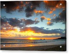 Kailua Beach Sunrise Acrylic Print by Saya Studios