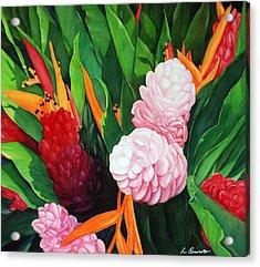 Kailua Farmer's Market Acrylic Print by Luane Penarosa