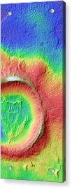 Kaiser Crater Acrylic Print by Nasa