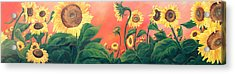 Acrylic Print featuring the painting Kait's Sunflowers by Jessica Tookey