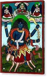 Kal Ratri Acrylic Print by Ashok Kumar