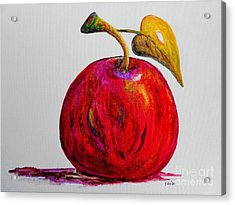 Kaleidoscope Apple -- Or -- Apple For The Teacher  Acrylic Print by Eloise Schneider