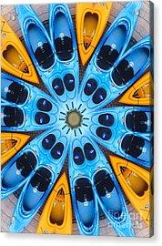 Kaleidoscope Canoes Acrylic Print
