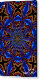 Kaleidoscope Feathers Four Acrylic Print