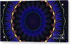 Kaleidoscope Feathers Acrylic Print by Suzanne Handel