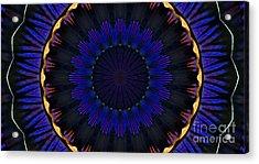 Kaleidoscope Feathers Acrylic Print
